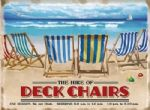Large Retro Vintage Deck Chairs Seaside Fun Metal Steel Gift Sign Plaque